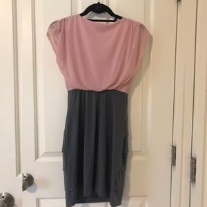 Sweet Storm Dresses - Sweet Storm pink/grey cocktail dress worn once